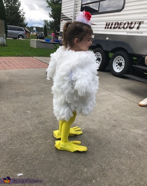 Tail feather in back, Chicken Costume