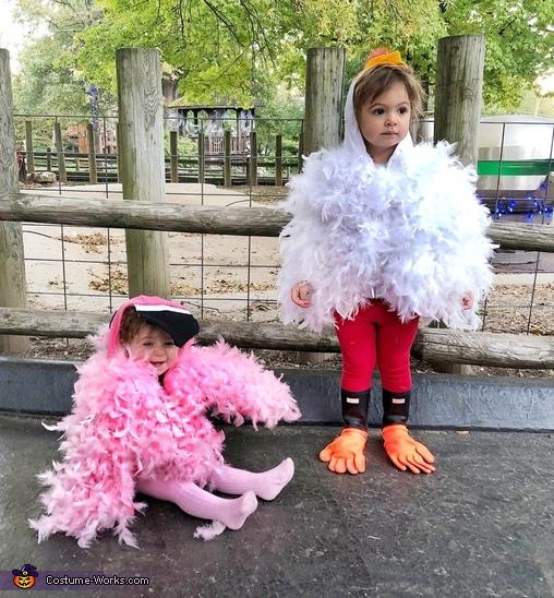 Chicken and Flamingo Costume