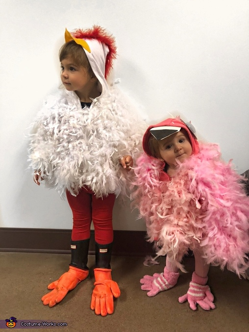 My flock, Chicken and Flamingo Costume