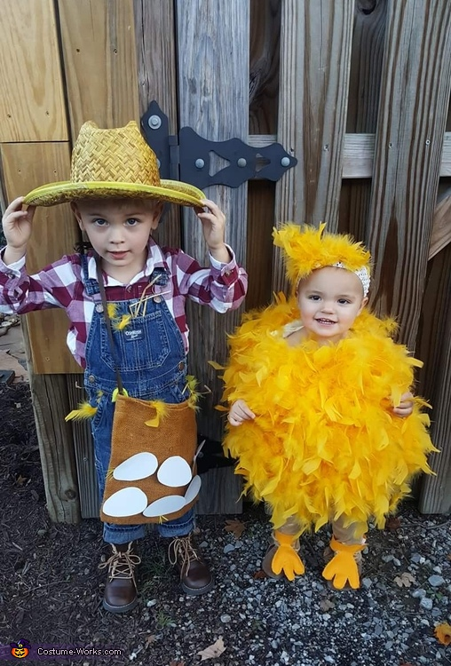 Chicken farmer and his Little Chick Costume
