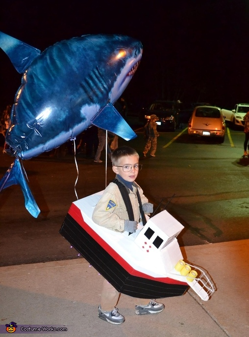 Chief Brody and Jaws Costume