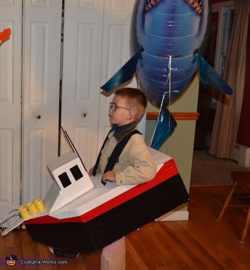 Chief Brody and Jaws Homemade Costume