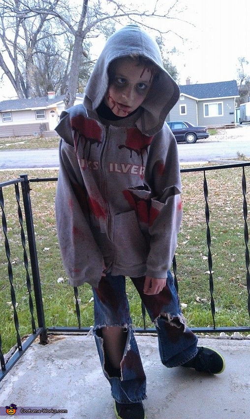 Doing his zombie walk!, Child Zombie Costume