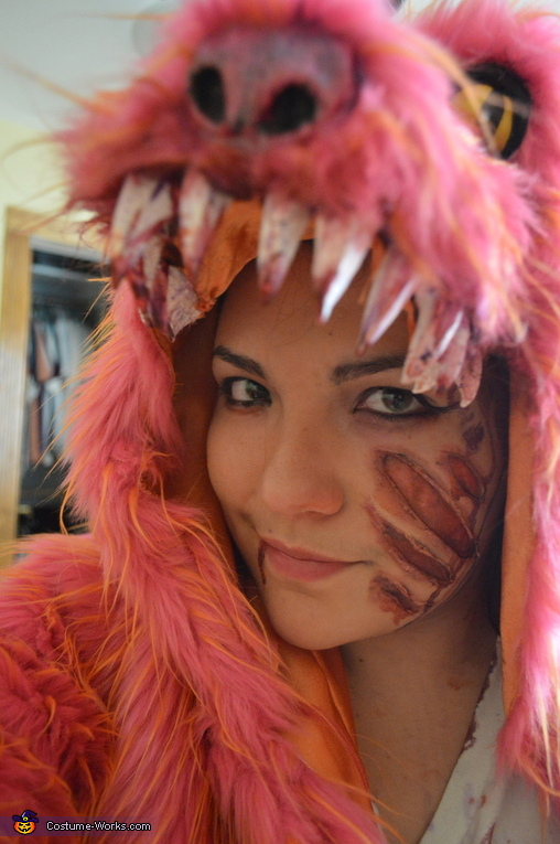 A close up of the make-up, Childhood Monster Slayer Costume