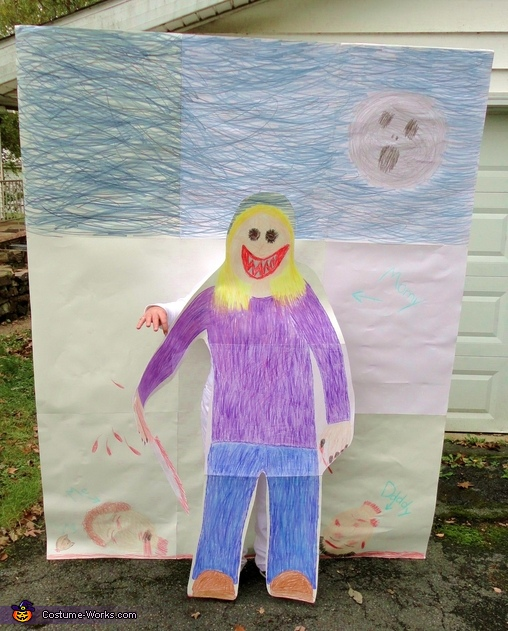 Proof I'm in there. lol, Child's Drawing Costume