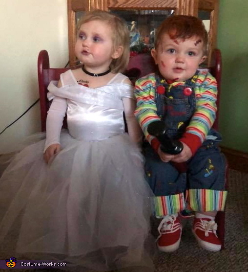 Wonder what Tiffany's thinking about?!?, Child's Plays Chucky & Tiffany Costume
