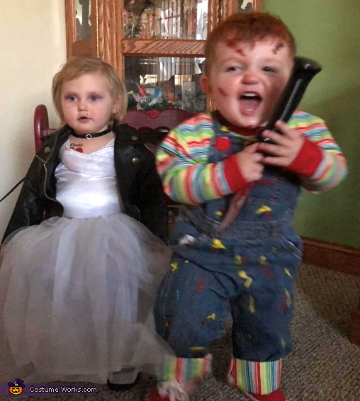 Wanna Play? (he jumped up & chased his mommy here), Child's Plays Chucky & Tiffany Costume