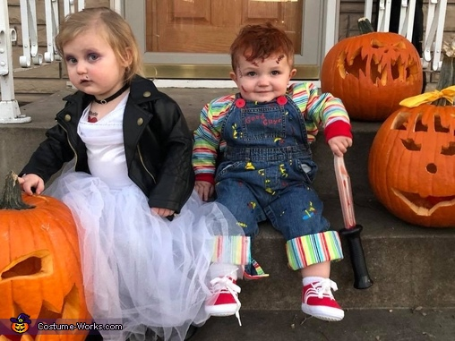 Yep, blade's sharp!, Child's Plays Chucky & Tiffany Costume