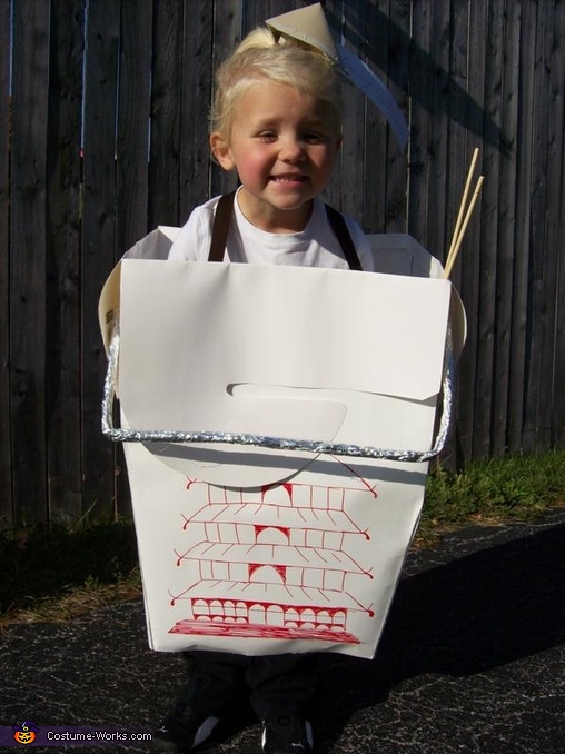 Chinese Takeout Box - Homemade costumes for girls