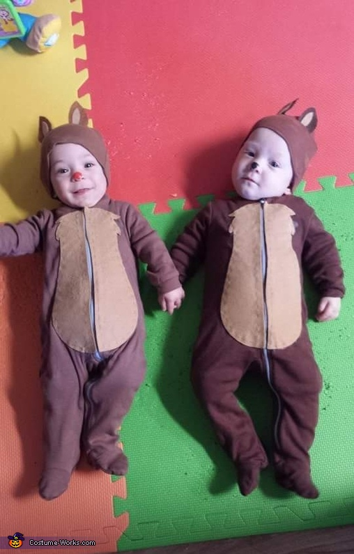 Twins Chip and Dale Chipmunks Costume