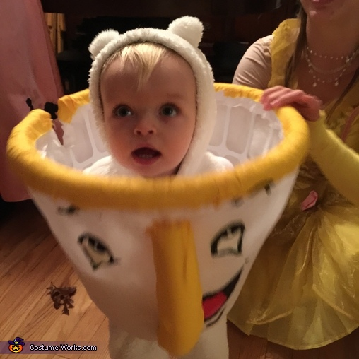 Chip standing up close, Chip from Beauty and the Beast Baby Costume