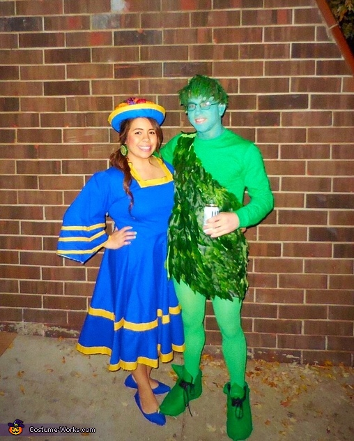 Chiquita Banana & the Jolly Green Giant Costume