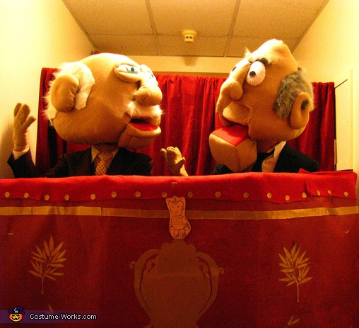 Waldorf and Statler - Homemade costumes for adults