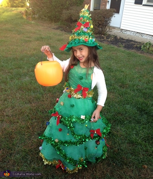 Christmas Tree Costume for Girls