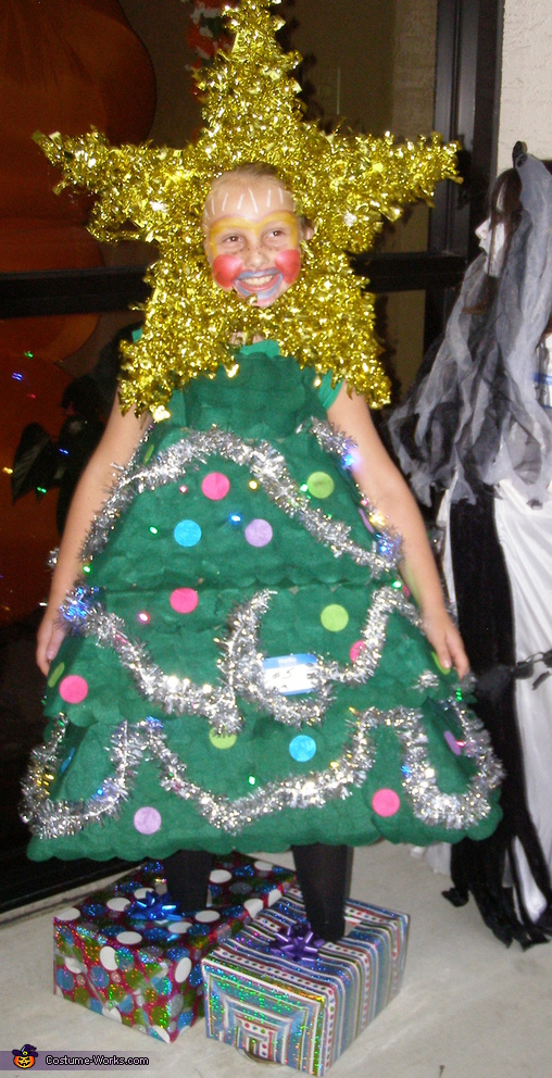 Christmas tree homemade halloween costume