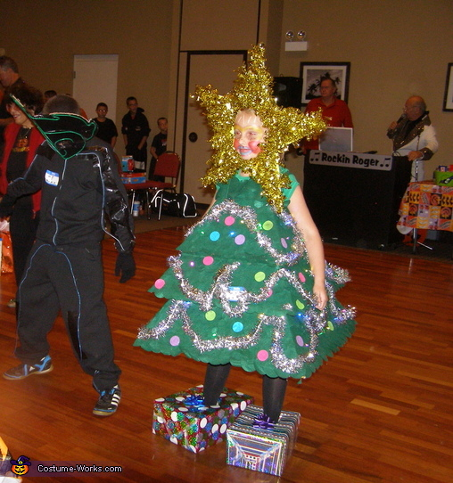 Christmas tree homemade halloween costume photo