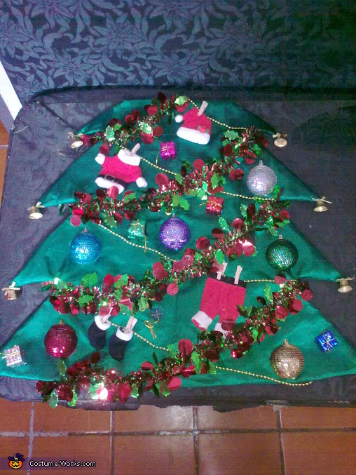The back side, Christmas Tree Costume