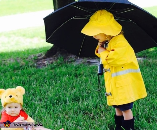 Christopher Robin and Pooh Homemade Costume