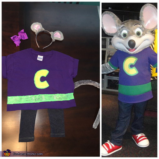 Her costume vs. the real Chuck E. Cheese's costume, Chuck E. Cheese Costume