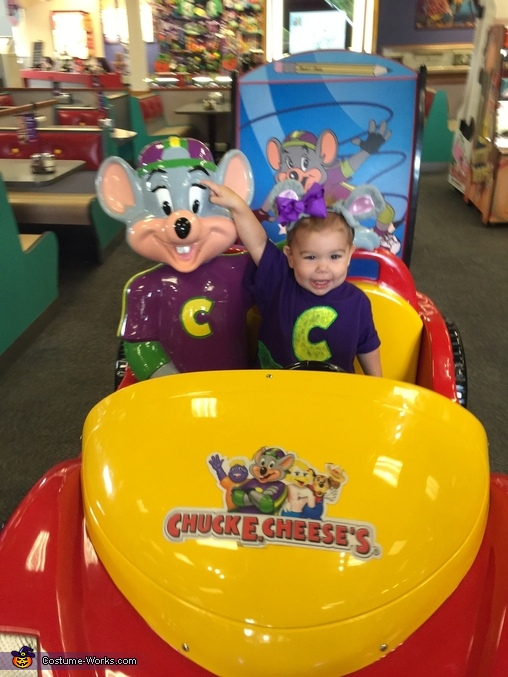 Taking a ride with Chuck E. Cheese, Chuck E. Cheese Costume