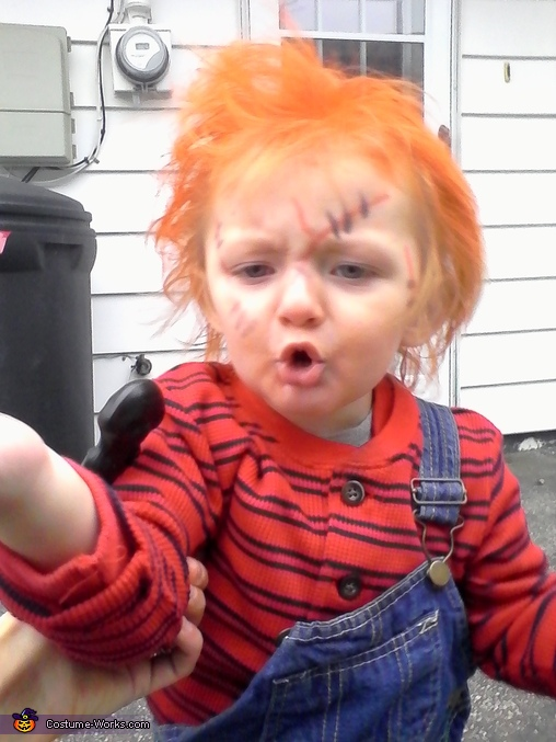 how to make a baby chucky costume