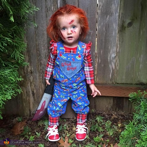 Scary Baby Girl Halloween Costumes.Chucky Baby Girl S Halloween Costume Photo 2 3