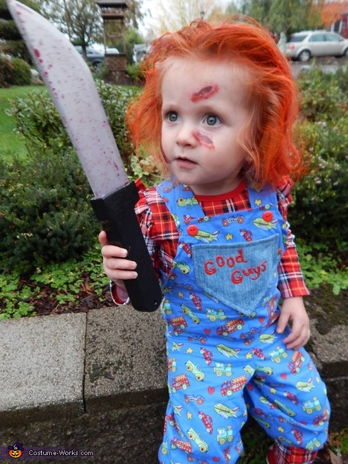 Give me all your candy, Chucky Baby Girl's Halloween Costume