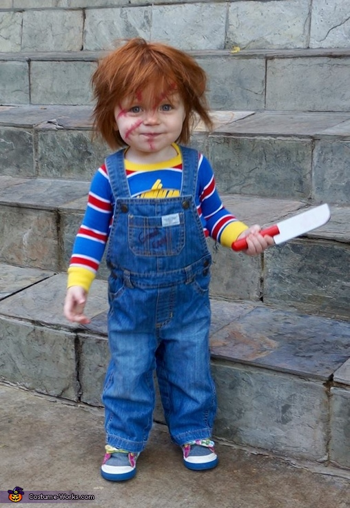 Chucky Baby Girl's Costume  Chucky Costume For Kids