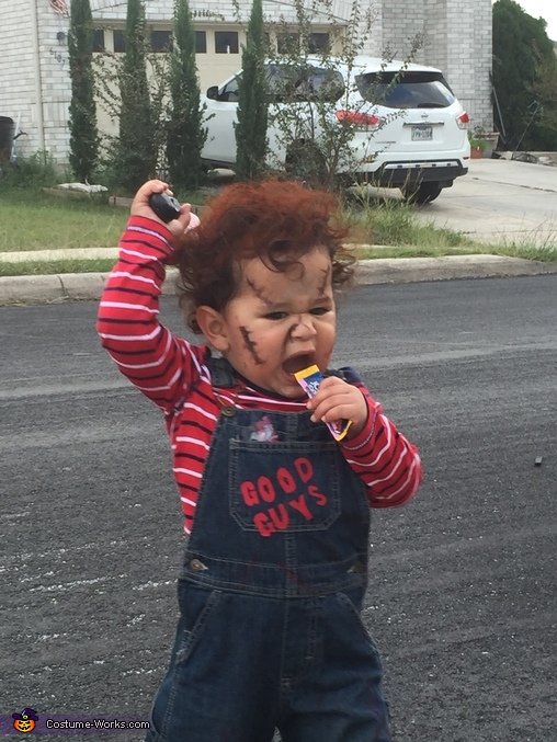 Homemade Toddler Chucky Costume