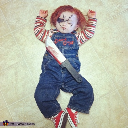 Hello, My name is Chucky.. Want to play?, Chucky Baby Costume