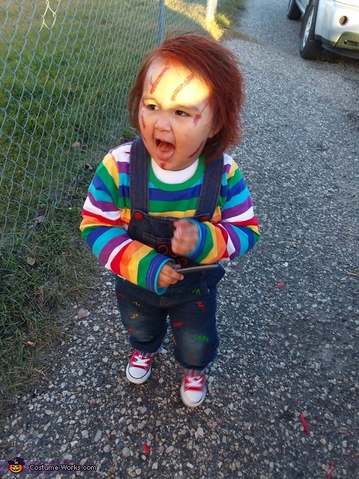 DIY Infant Chucky Costume