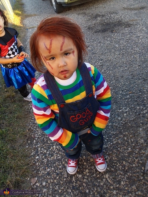 DIY Infant Chucky Costume