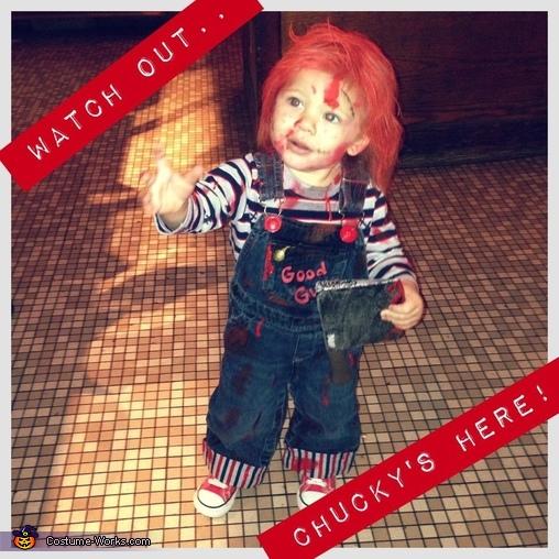 Chucky's back!!, DIY Chucky Baby Costume