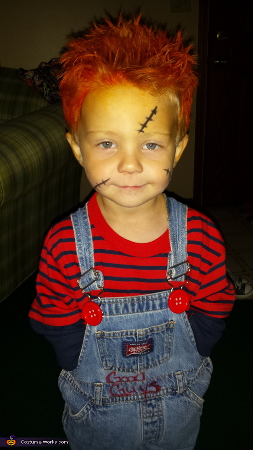 DIY Toddler Chucky Costume