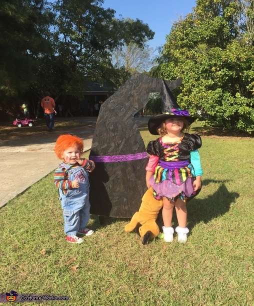 Chucky with a witch, Child's Play Chucky Baby Costume