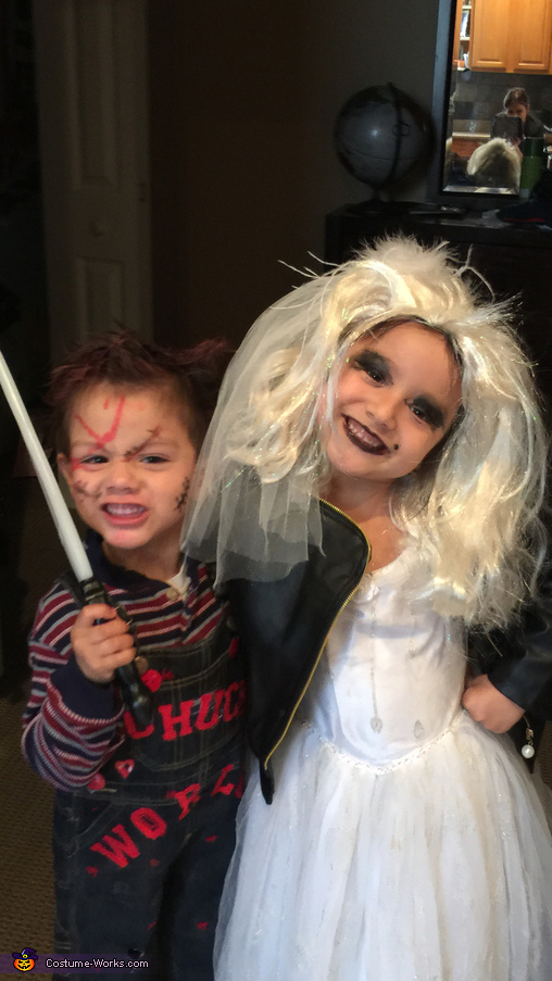 Chucky and Chucky Bride Kids Homemade Costume
