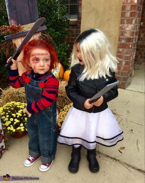 Chucky and Chucky's Bride Homemade Costume