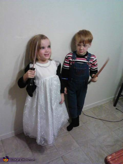 he is mad, Chucky and his Bride Costume
