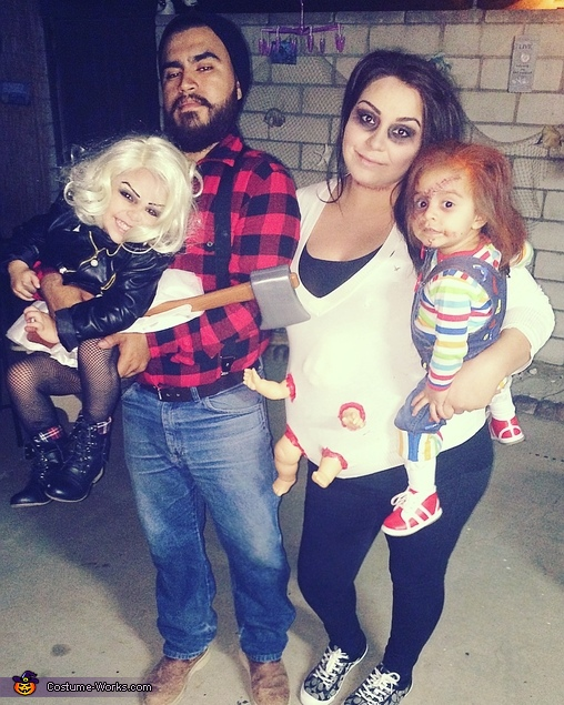 Our Family photo, Chucky and Tiffany Bride of Chucky Costume