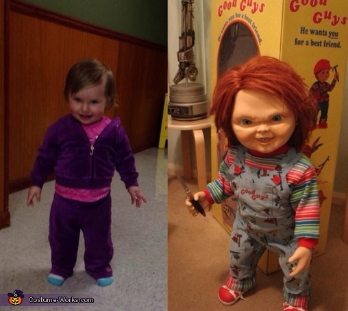 Costume inspiration, Paisley at 8 months, Chucky Baby Costume
