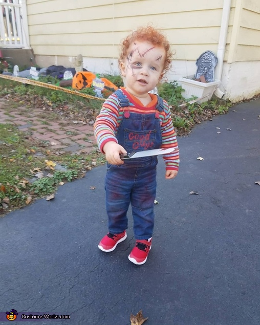 He's one of the 'good guys', Chucky Doll Costume