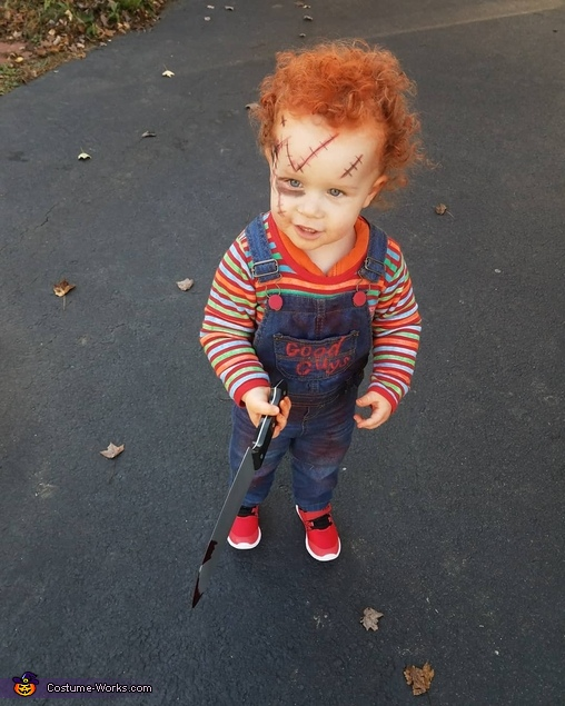 Chuckie as Chucky, Chucky Doll Costume