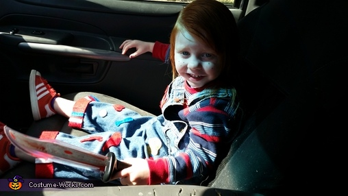 chuckys in my car!!!!, Child's Play Chucky Girl Costume