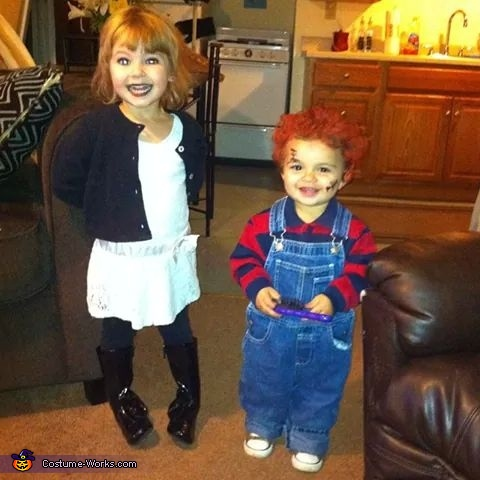Chucky & Bride Kids Costume