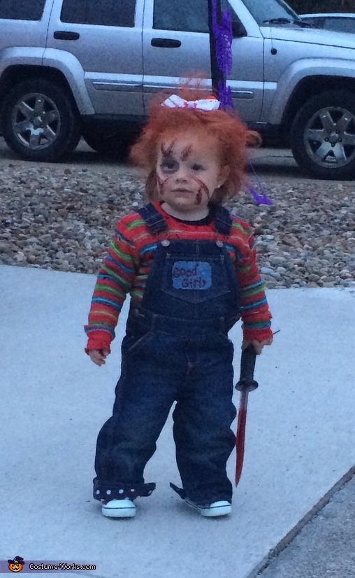Chucky with a Bow Costume