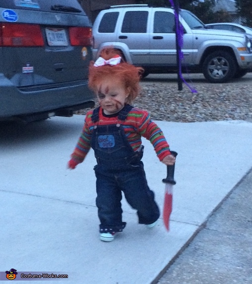 Wait for me guys..., Chucky with a Bow Costume