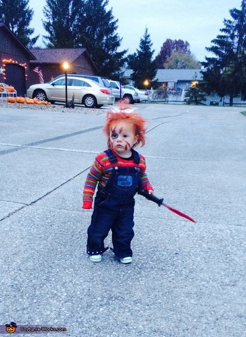 Hahaha, Chucky with a Bow Costume