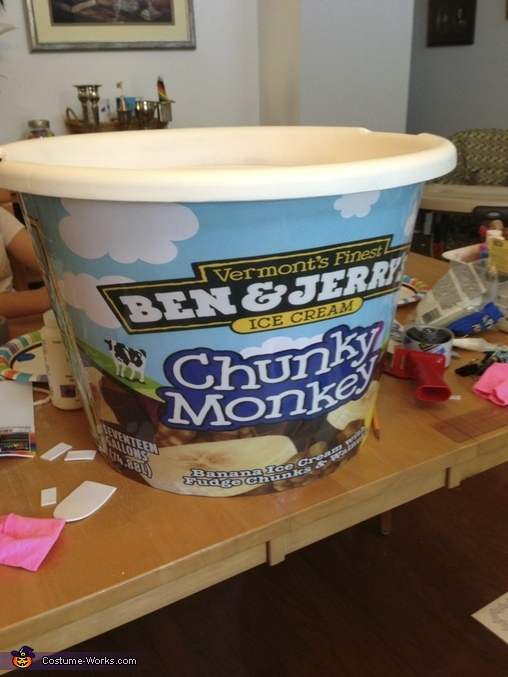 The bucket is complete!, Chunky Monkey Ice Cream Costume