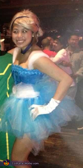 Out and about almost after midnight. Yikes!, Cinderella Costume