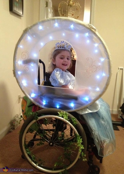 Cinderella and her Enchanted Carriage Costume  sc 1 st  Costume Works & Cinderella and her Enchanted Carriage - Wheelchair Costume Idea for ...